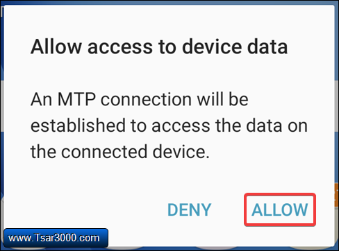 Allow Access on Galaxy Device