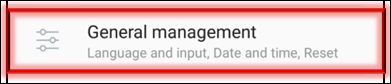 General Management Option