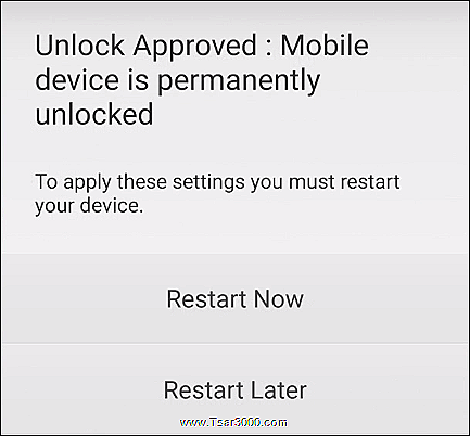 T-Mobile Device Unlock App Step 5