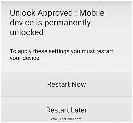 T-Mobile Device Unlock App Step 5