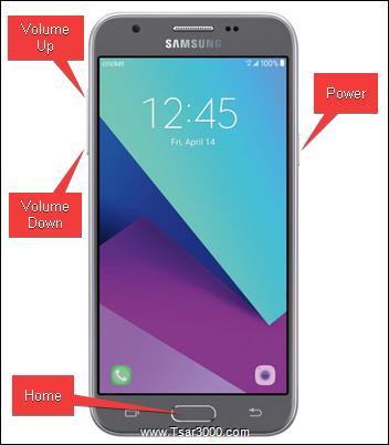 Reset Galaxy Amp Prime 2 SM-J327AZ