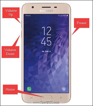 Samsung Galaxy J3 Star Reset Keys