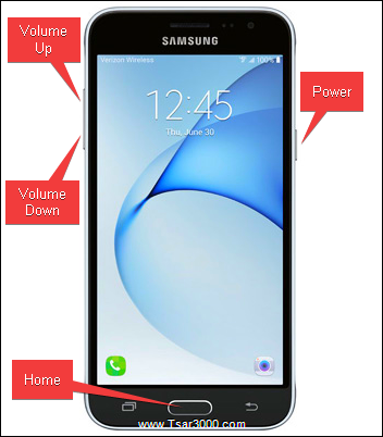 Galaxy J3 V SM-J320V Hardware Keys
