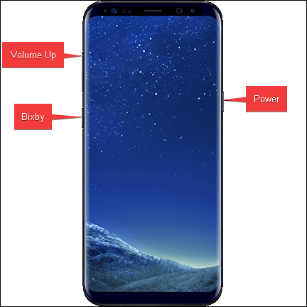 Galaxy S8 Factory Reset Keys