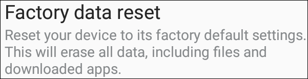 Marshmallow Factory Data Reset