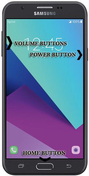 Samsung Galaxy J7 Perx SM-J727P Buttons