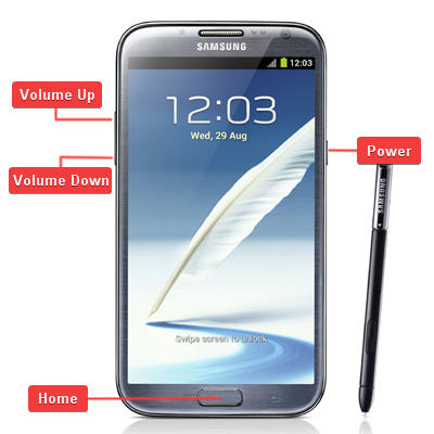 Samsung GT-N7100 Galaxy Note II Buttons