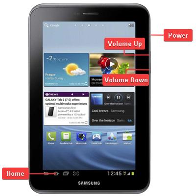 Samsung GT-P3100 Galaxy Tab 2 7.0 Buttons