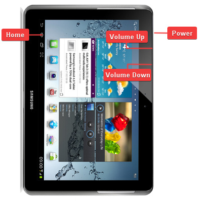 Samsung GT-P5100 Galaxy Tab 2 10.1 Buttons