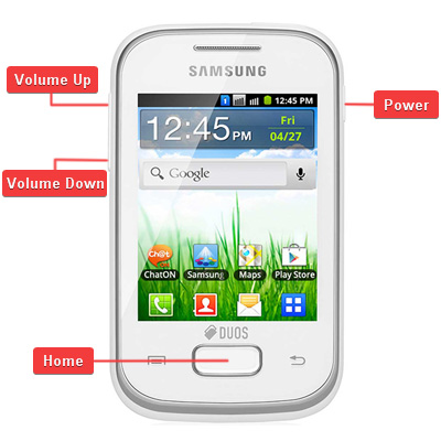 Samsung GT-S5303 Galaxy Y Plus Buttons