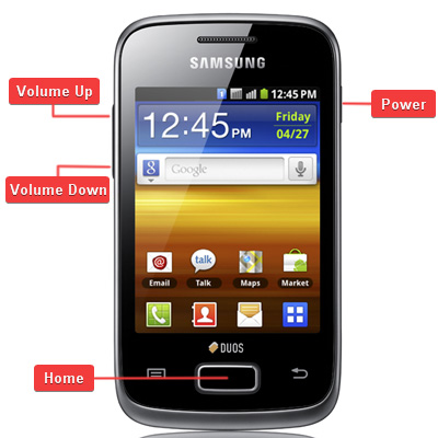 Samsung GT-S6102 Galaxy Y Duos Buttons