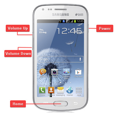 Samsung Galaxy S Duos GT-S7562 Buttons