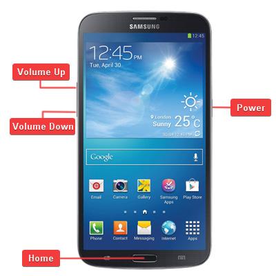 Samsung GT-i9200 Galaxy Mega 6.3 Buttons