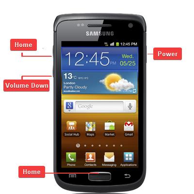 Samsung Galaxy W GT-i8150 Buttons