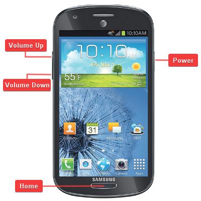 Samsung SGH-i437 Galaxy Express Buttons