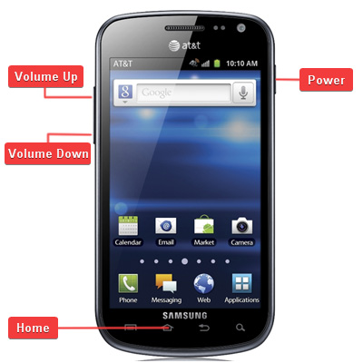 Samsung SGH-i577 Galaxy Exhilarate Buttons