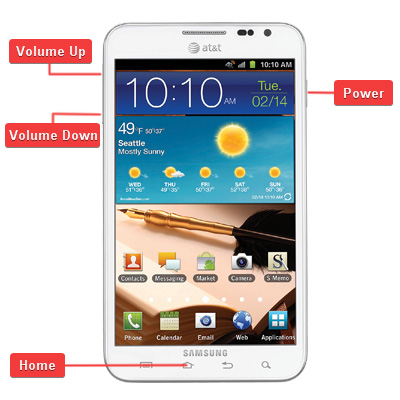 Samsung SGH-i717 Galaxy Note LTE Buttons