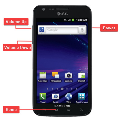 Samsung SGH-i727 Galaxy S II Skyrocket Buttons