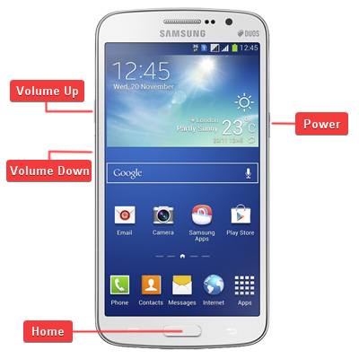 Samsung SM-G7102 Galaxy Grand 2 Duos Buttons