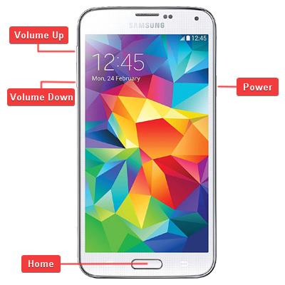 Samsung SM-G900F Galaxy S5 Buttons