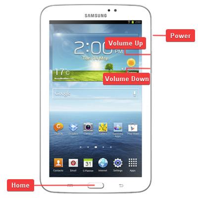 Samsung SM-T211 Galaxy Tab 3 7.0 Buttons