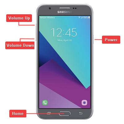 Samsung Galaxy J7 V SM-J727V Hardware Buttons