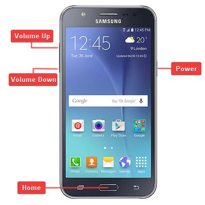 Samsung Galaxy J5 Hardware Buttons