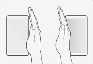Swipe to take a screenshot