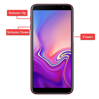 Samsung Galaxy J6 Plus Hardware keys