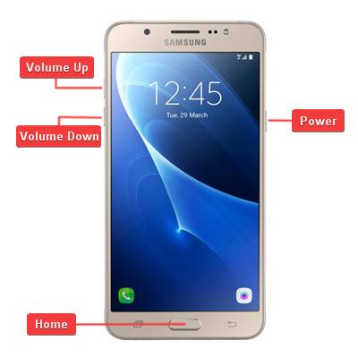 Samsung Galaxy J7 2016 Hardware buttons