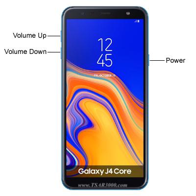 Samsung Galaxy J4 Core Hardware keys