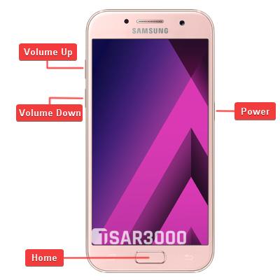 Samsung Galaxy A3 2017 Hardware Keys