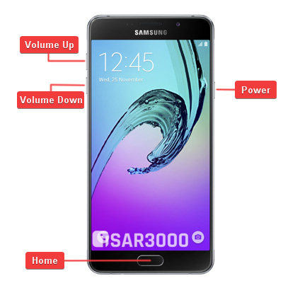 Samsung Galaxy A7 2016 Hardware Keys