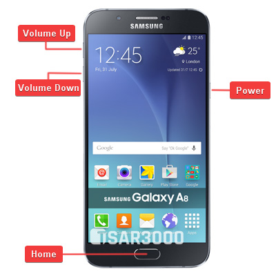 Samsung Galaxy A8 Hardware keys