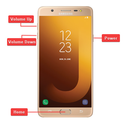 Samsung Galaxy J7 Max Hardware keys