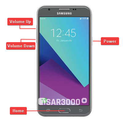 Samsung Galaxy J3 Emerge Hardware Keys