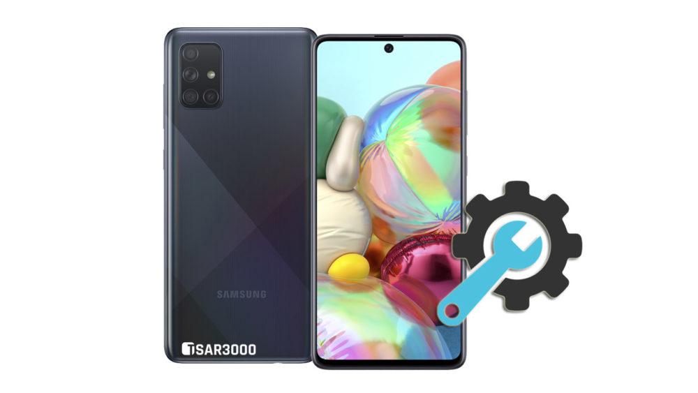 Factory Reset Samsung Galaxy A71