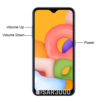 Samsung Galaxy A01 Hardware keys