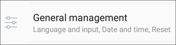 Samsung General Management Option