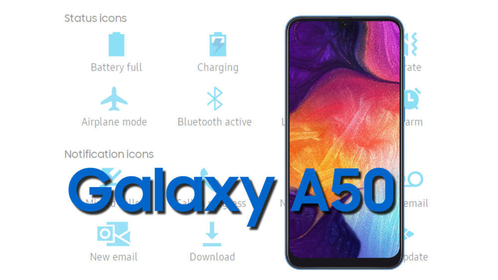 Samsung Galaxy A50 Status Bar and Notification icons Meaning