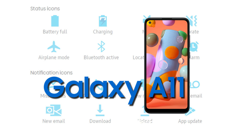 Samsung Galaxy A11 Status Bar icons Meaning