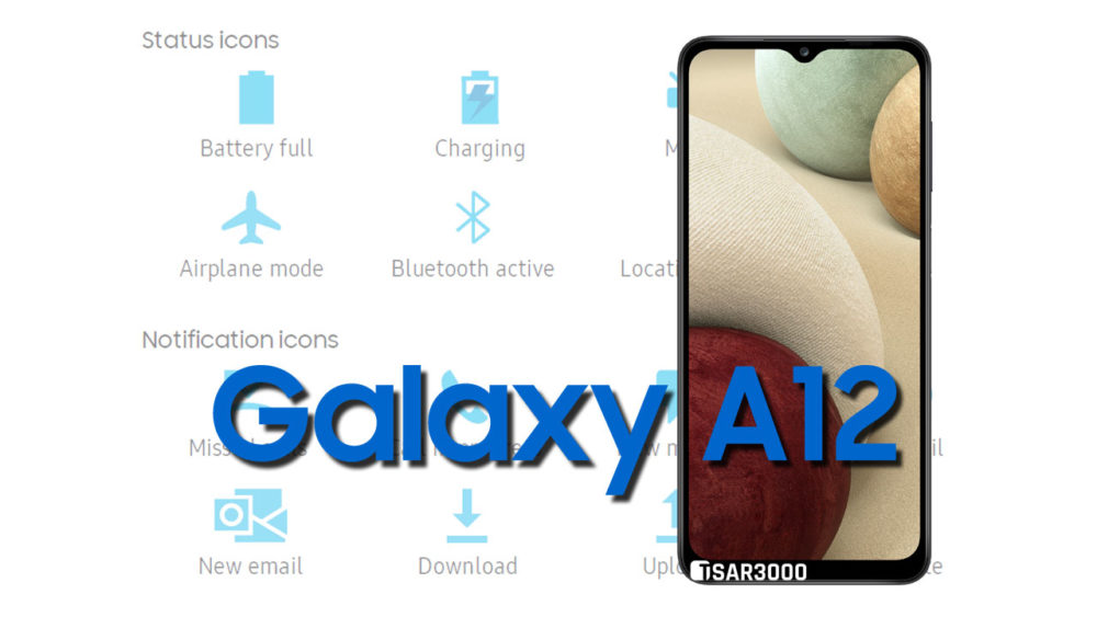 Samsung Galaxy A12 Status Bar icons Meaning