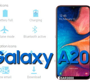 Samsung Galaxy A20 Status Bar icons Meaning