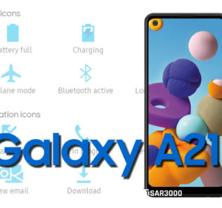 Samsung Galaxy A21 Status Bar icons Meaning