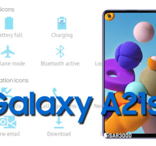 Samsung Galaxy A21s Status Bar icons Meaning