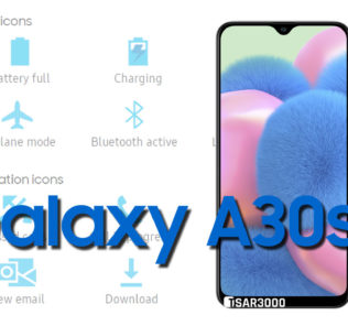 Samsung Galaxy A30s Status Bar icons Meaning