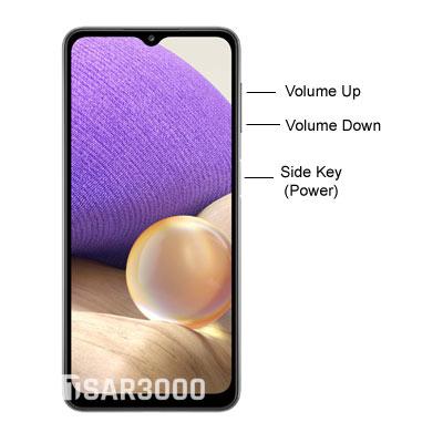 Samsung Galaxy A32 5G Buttons layout