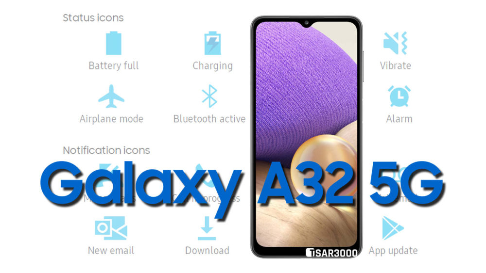 Samsung Galaxy A32 5G Status Bar icons Meaning