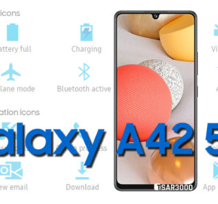 Samsung Galaxy A42 5G Status Bar icons Meaning