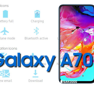 Samsung Galaxy A70 Status Bar icons Meaning